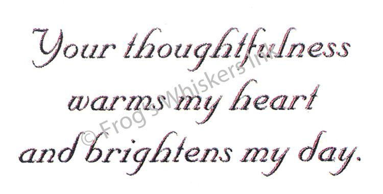 Frog's Whiskers Stamps - Your Thoughtfulness