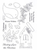 Creative Expressions - Clear Stamp Set- Christmas Robins