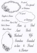 Creative Expressions - Clear Stamp Set - Poinsettia Christmas Wishes