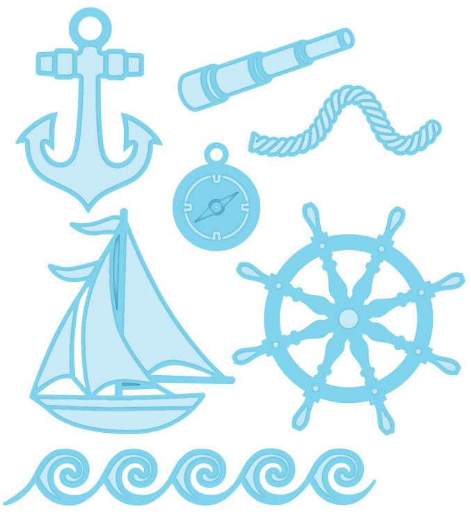 Fillables Collection Nautical Accessories Die