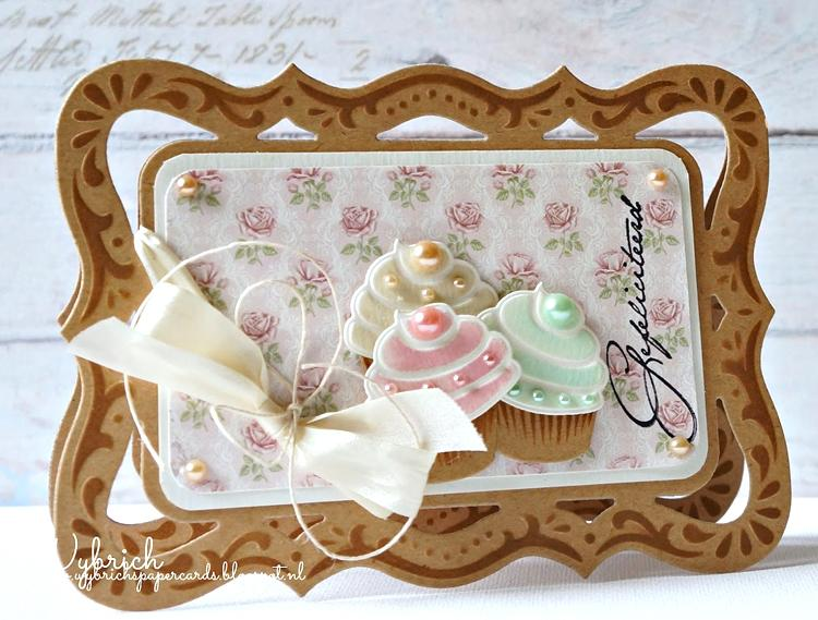 Marianne Design: Creatables Dies - Rectangle Frame & Flowers