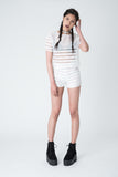 Spin White Sheer Stripe Co-ord