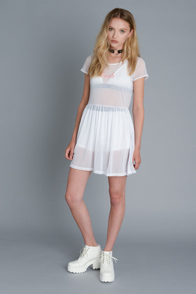 Trash White Mesh Dress