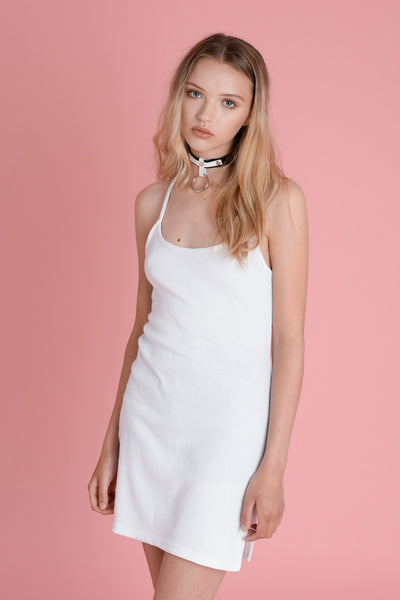 Wallace White Rib Dress