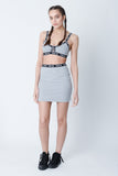 Stone Fox Marl Grey Bralet