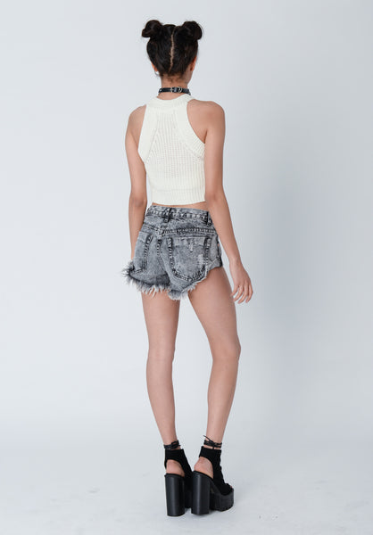 Tilly Cream Knit Crop Top