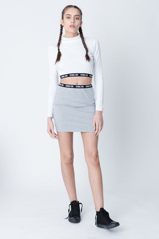 Marnie White Cut Out Crop Top