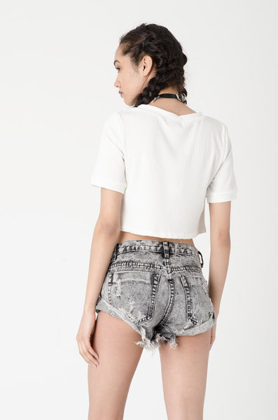 Mathilda White Crop Top