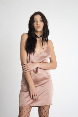 Stellar Satin Slip Dress