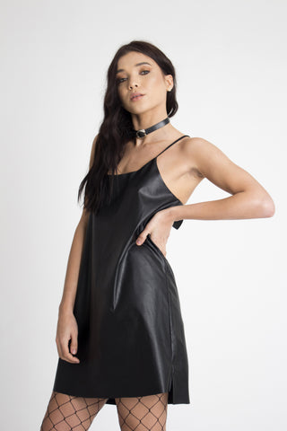 Debbie Leather Cami Dress