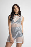 Pablo Sheer Metallic Knit Dress