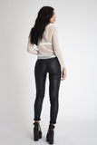 Rumi Coated Biker Jeans