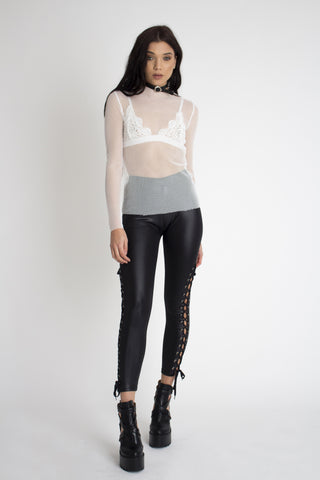 Lux Lace Up Leggings