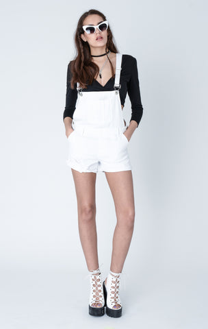 Bleacher White Denim Dungarees
