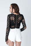 Lucia Scallop Lace Crop Top