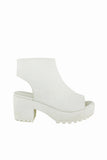 Brooklyn White Peep Toe Boots