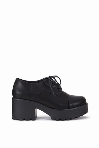Mina Black Platform Shoes