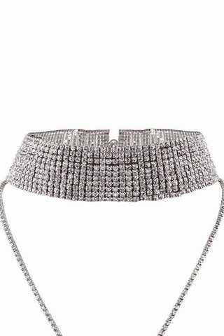 Sofia Crystal Drop Choker