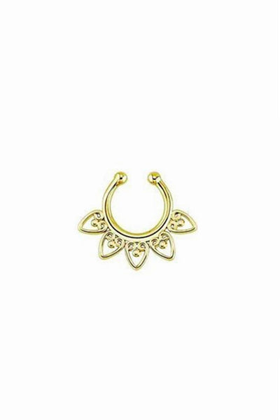 Sahara Gold Faux Septum Ring