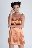 Harlow Bronze Satin Dress