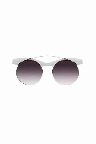 Hi Brow White Sunglasses