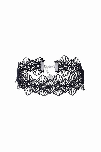 Suri Black Lace Choker