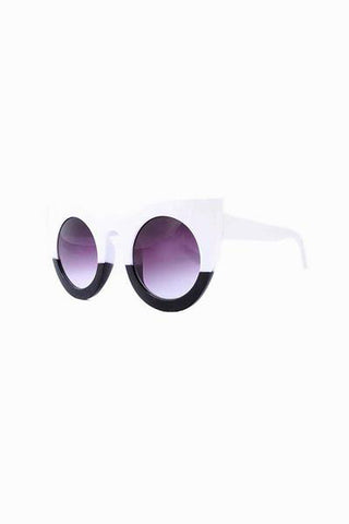 Leni Monochrome Cat Eye Sunglasses
