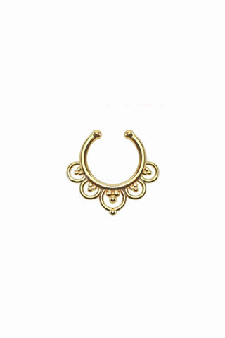 Lia Gold Faux Septum Ring