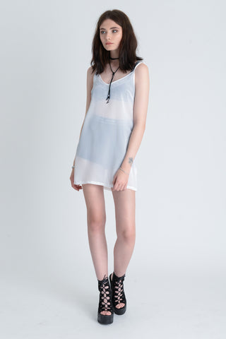 Lolita White Lace Up Dress