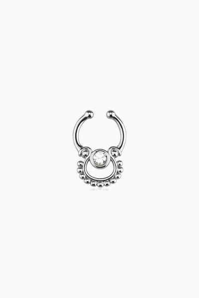 Mari Silver Faux Septum Ring