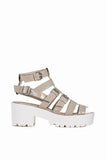 Mercy Nude Patent Gladiator Sandals