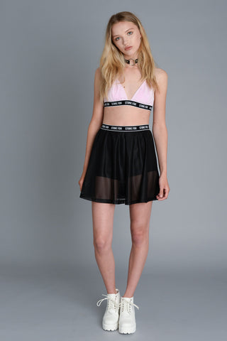 Classic Baby Pink Triangle Bralet