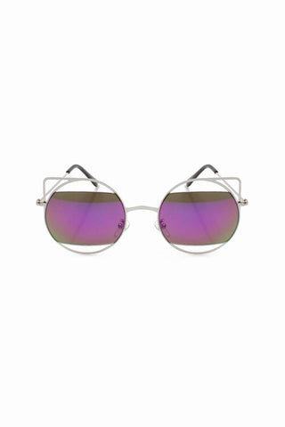 Lola Purple Cut Out Sunglasses