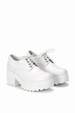 Mina White Platform Shoes