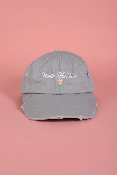 Waste His Time Grey Cap
