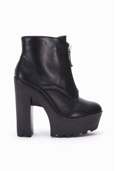 Corey Cleated Platform Zip Boots