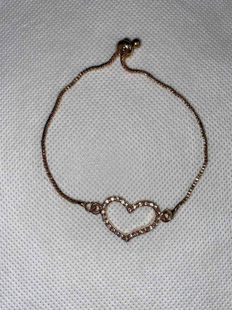 Heart Diamond Rhinestone Anklet