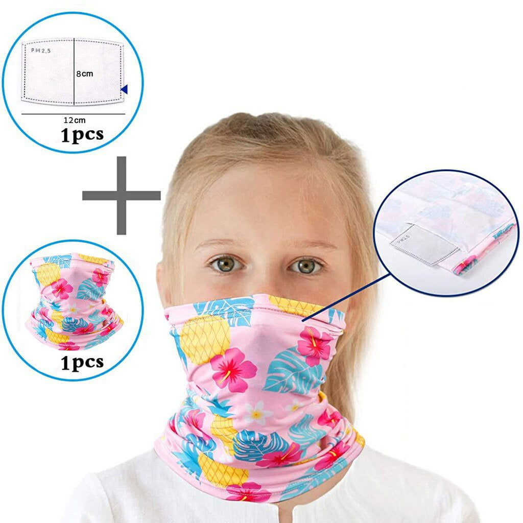 Kids Pink Hearts Girls Neck Fleece - MaskJunkee