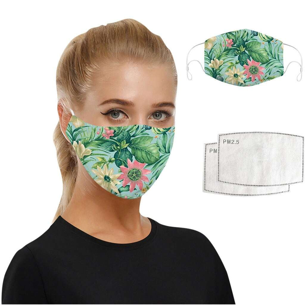 Tropical Green Face Mask - MaskJunkee