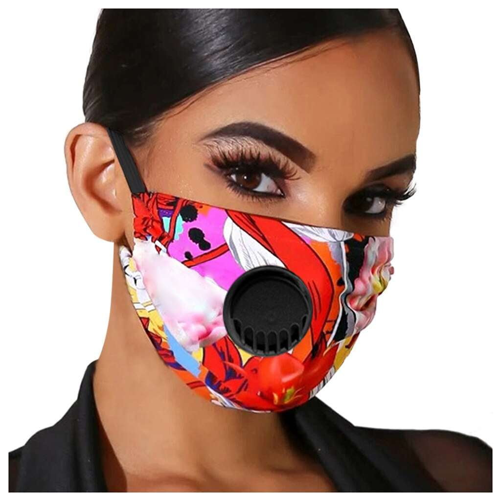 Red Rojo Face Mask w/Air Valves - MaskJunkee