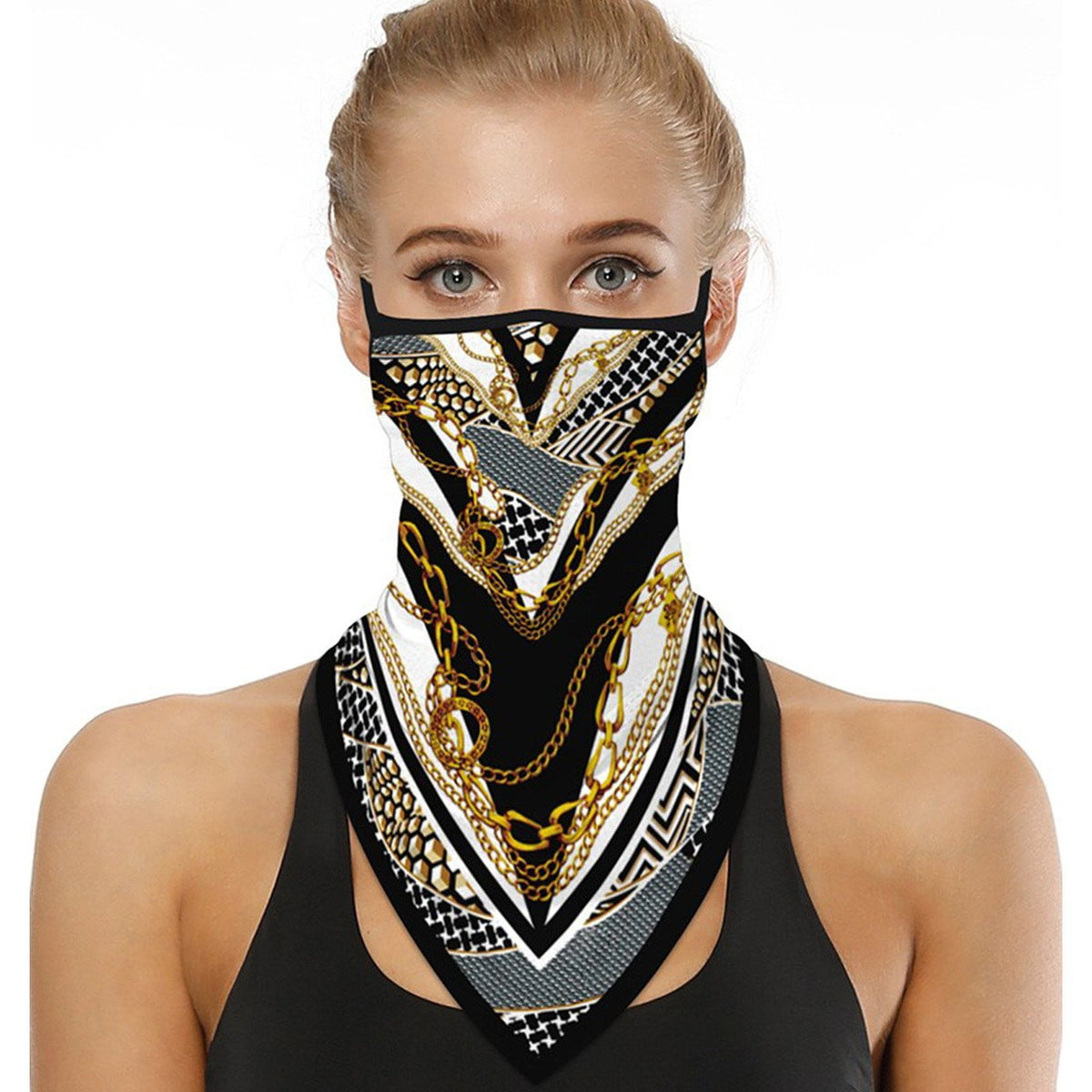 Gold Chain Neck Gaiter - MaskJunkee