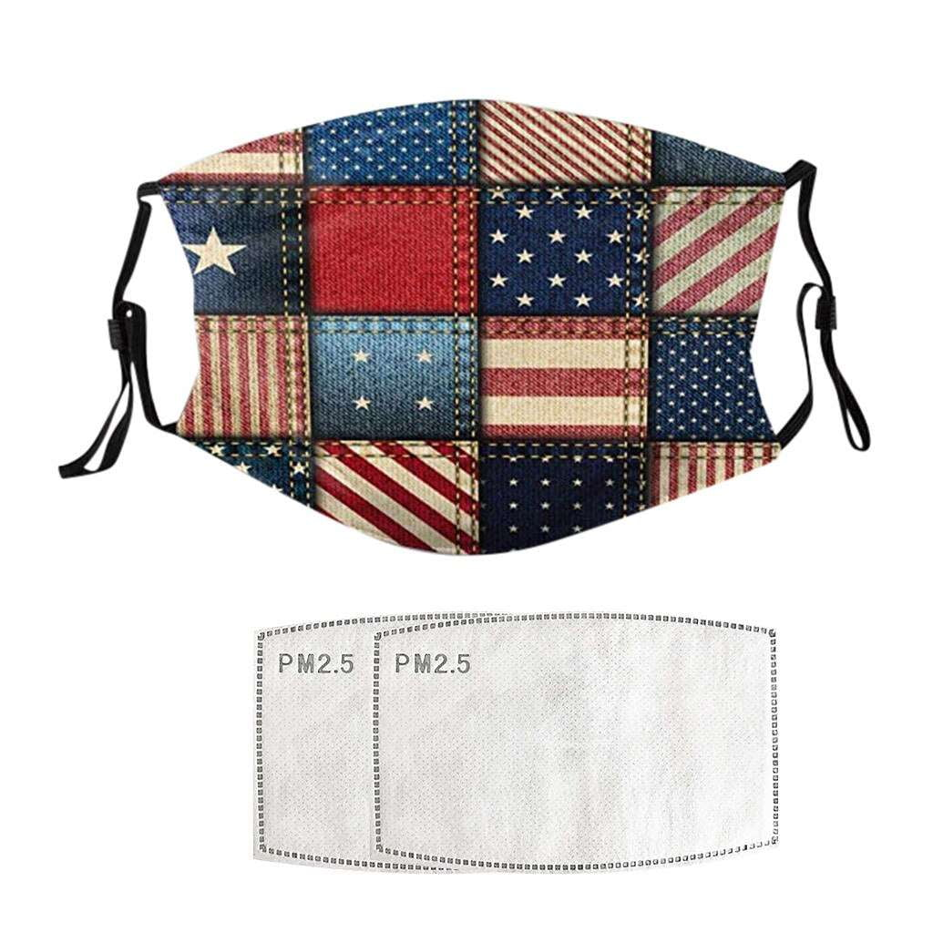 Patchwork Usa Flag Face Mask - MaskJunkee