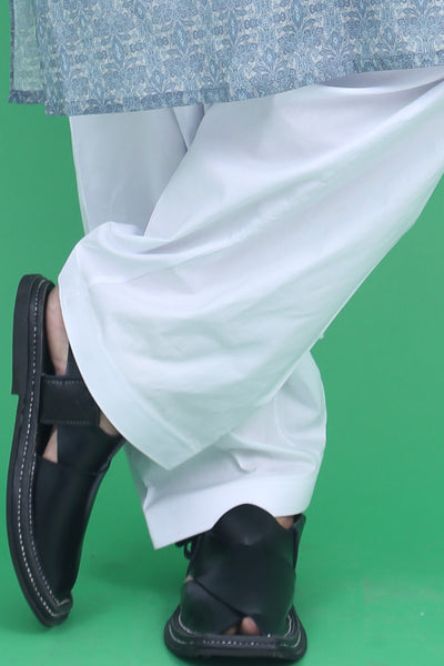 WHITE COTTON-MEN SHALWAR
