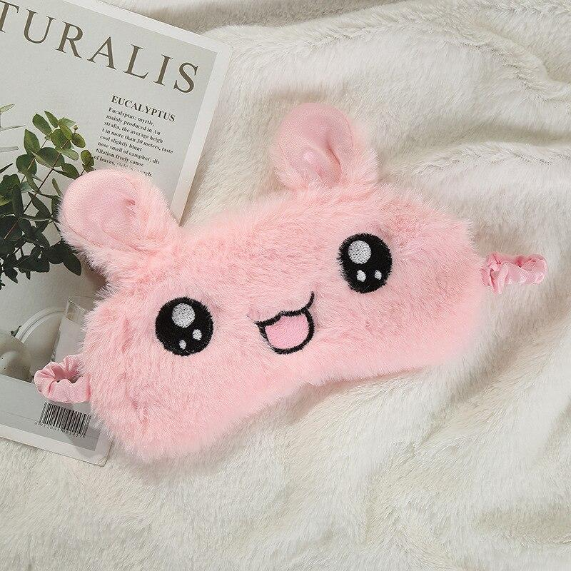 Cartoon Plush Sleeping Mask - Home Party Gifts