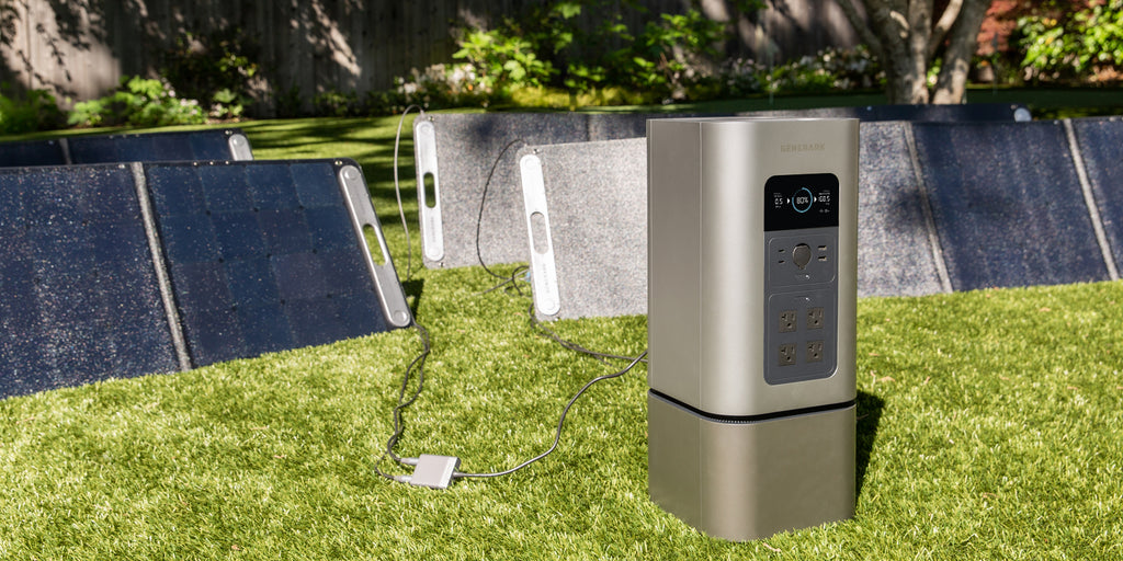 The HomePower 2 backup battery gains energy from the SolarPower 2 solar panels.