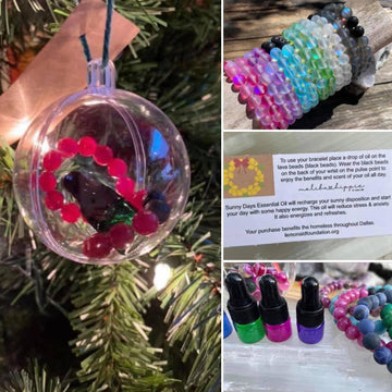 Holiday Ornament with Bracelet Diffuser & Sunny Days Oil