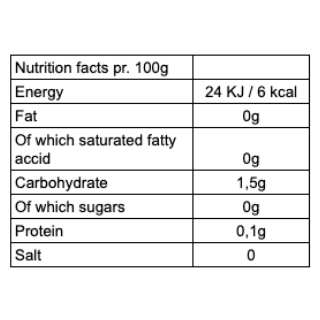 Nutrition facts CBSé Energia yerba mate