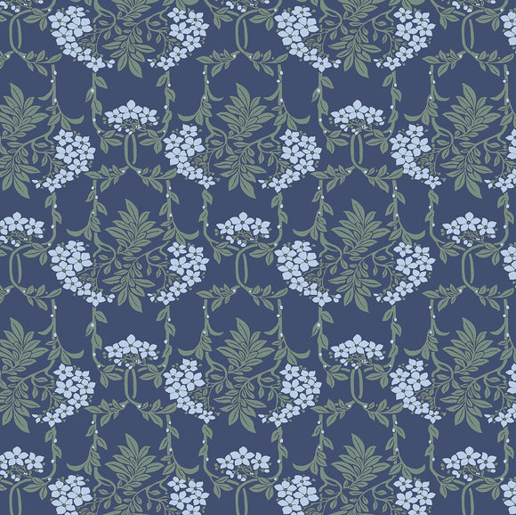 Hesketh Nouveau Mayflower - Blue from Liberty Fabrics