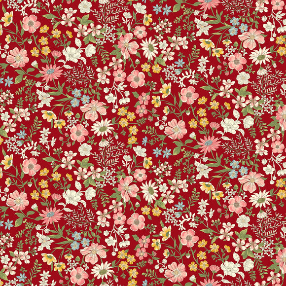 Collectable Calicos by Laura Berringer Red June Calico Flowers