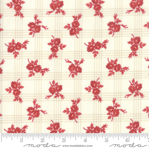Northport by Minick & Simpson Cream Red Rose